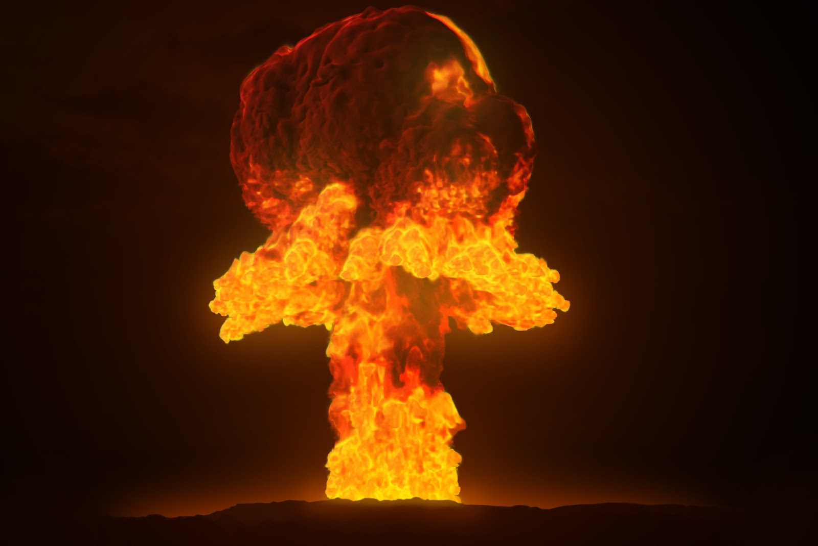 photo of a nuclear explosion to illustrate a blog post about movie hunter killer