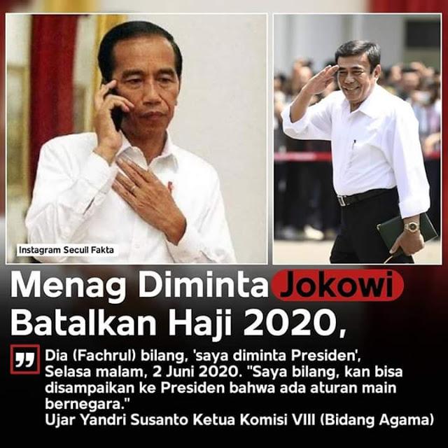 TERUNGKAP! Ketua Komisi Agama DPR: Menag Diminta Jokowi Batalkan Haji 2020
