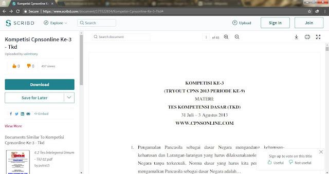 Halaman File Dokumen yang ingin diunduh