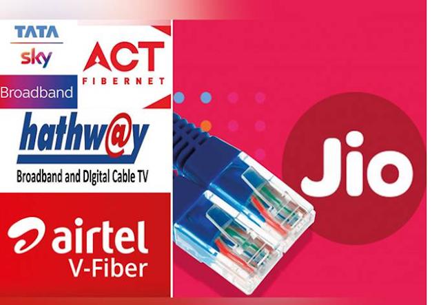 Jio vs Airtel vs ACT, Reliance Jio Fiber, Airtel fiber, ACT FiberNet