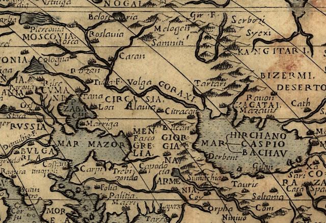 Исторические карты Кавказа, исторические карты Черкасии, исторические карты Алании,