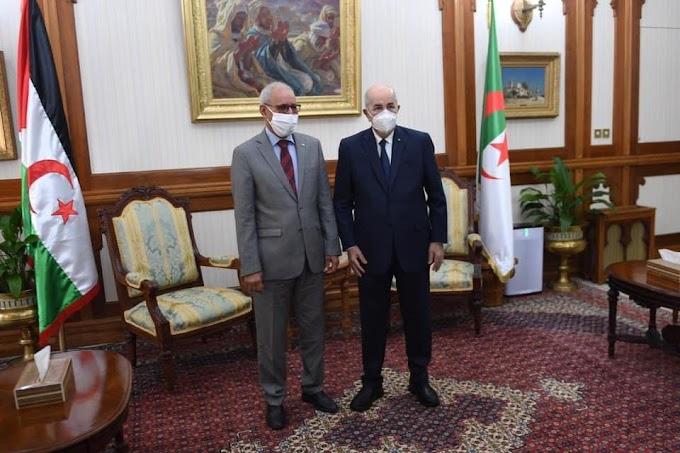 🔴 ÚLTIMA HORA | El Presidente de Argelia, Tebboune, recibe a Brahim Ghali en la sede presidencial.
