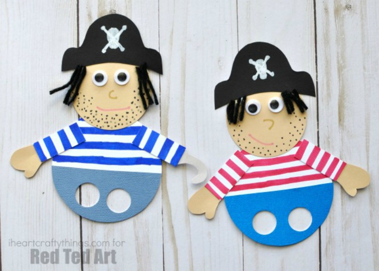 pirate paper craft for kids