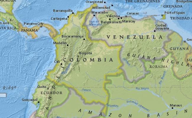 Peta Kolombia