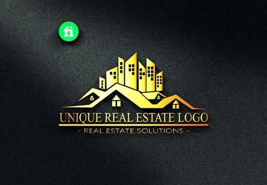 property construction mortgage real estate logo design