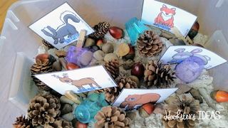 Hookster's Ideas: Tinkering Toddlers Fall Finds Sensory Box