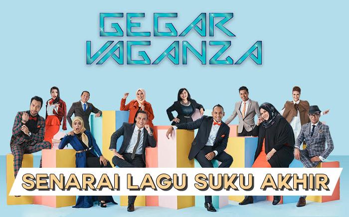 Senarai Lagu Gegar Vaganza 2017 Suku Akhir