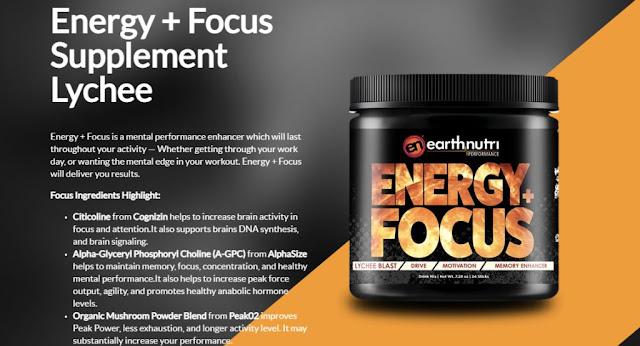 Energy plus Focus Supplement Lychee