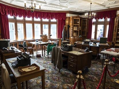 Inside the Bletchley Park mansion