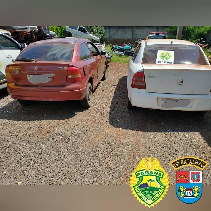 Dois carros  carregados com cigarros contrabandeados são apreendidos na Região