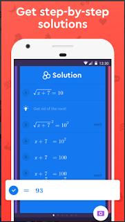 برنامج لحل مسائل الرياضيات مع الخطوات