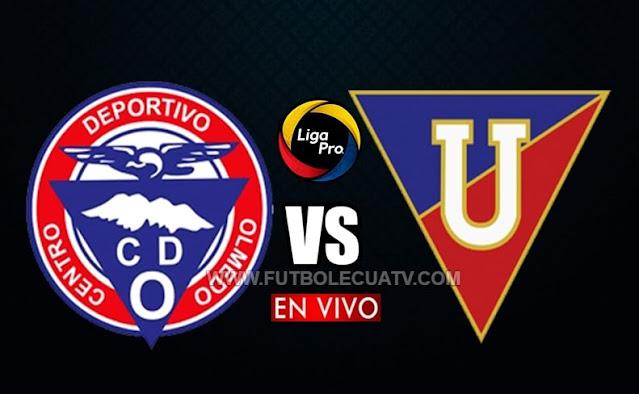 Olmedo choca ante Liga de Quito en vivo a partir de las 15h30 hora local, por la fecha dos 1era etapa del torneo ecuatoriano, siendo emitido por GolTV Ecuador a jugarse en el campo Fernando Guerrero. Con arbitraje principal de Juan Andrade.
