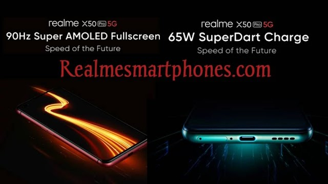 Realme X50 Pro 5G features 90Hz Super AMOLED display and 65W Superdart fast wired charging.
