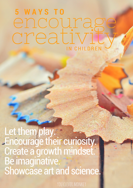 Free printable poster - How to encourage creativity in children | youclevermonkey