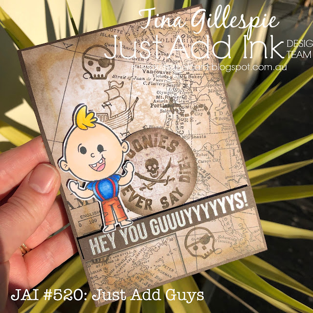scissorspapercard, Stampin' Up!, Ink Road Stamps, The Sassy Club, Just Add Ink, I Smell Ice Cream, Pirate's Gold, Treasure Hunters, World Of Good SDSP