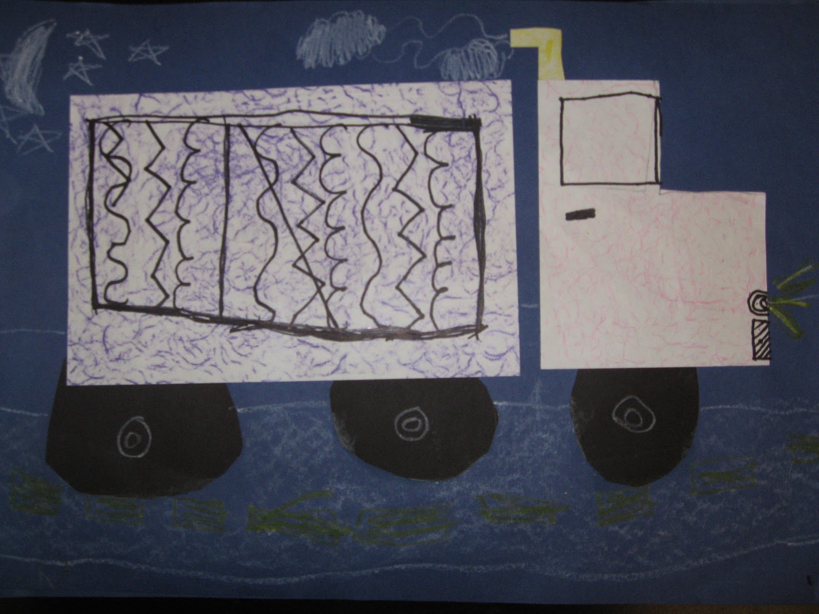 Jamestown Elementary Art Blog Kindergarten Shape Line And Texture Trucks