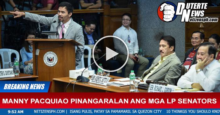 Sen.Manny Pacquiao Ni Lecturan Ang Mga LP Senators sa Senado. Must Watch This!