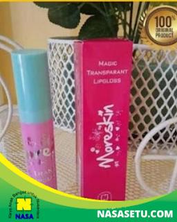 Moreskin Magic Transparan LipGloss Warna Pink
