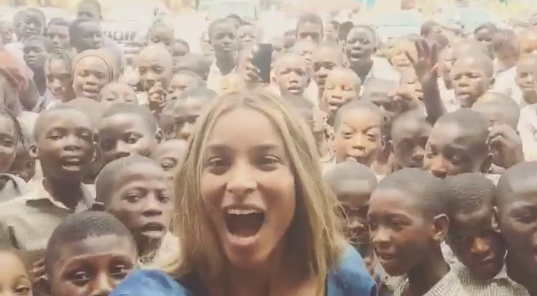 Photos: Ciara visits secondary schools in Lagos