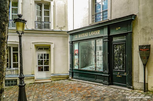 Le Bateau Lavoir, casa de Pablo Picasso em Montmartre, em Paris