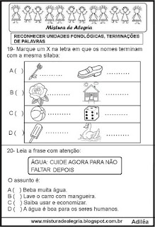 Simulado de português para 3º ano com gabarito