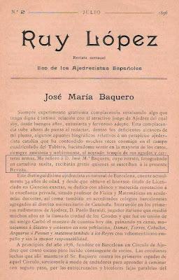 Artículo de José Tolosa y Carreras en la Revista Ruy López (1)