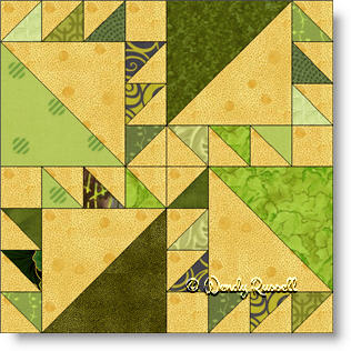 Irish Puzzle quilt block image © Wendy Russell