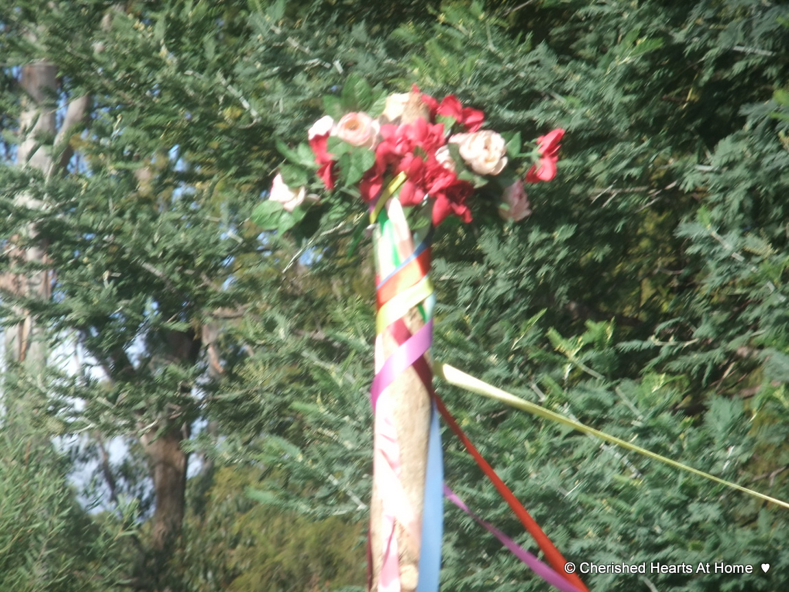 Cherished Hearts At Home: Making a Maypole and how we celebrate