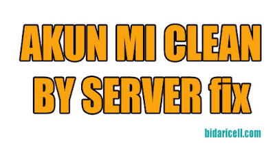 clean akun mi by server