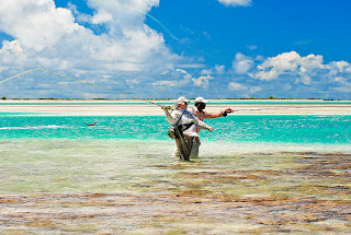 Bonefishing in Kiritimati, Kiribati