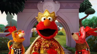Over Under Through, Froggy Quintet, Dragon Breath, Stinky Things, two royal mice guards, dragon, The Friendly Froggies Five, Velvet, Elmo the Musical Prince Elmo the Musical, Sesame Street Episode 4315 Abby Thinks Oscar is a Prince season 43