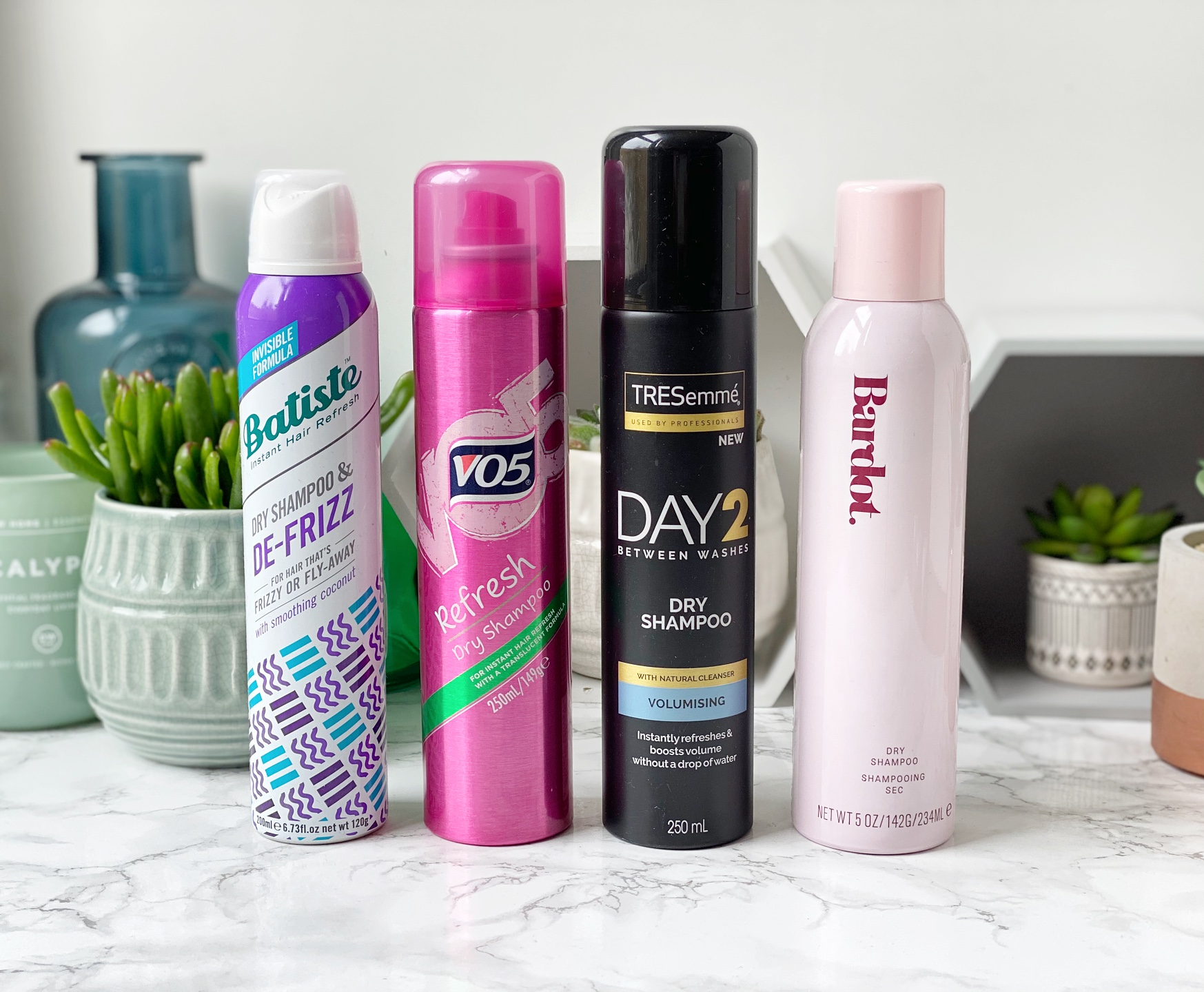 dry shampoo review batiste vo5 tresemme Bardot