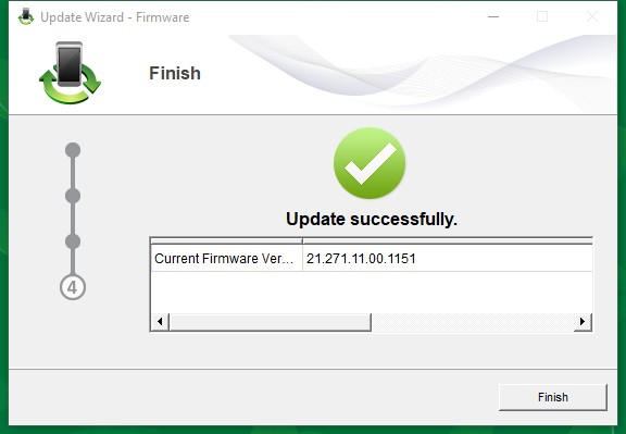 Finish Update ke Firmware e5372s 21.271