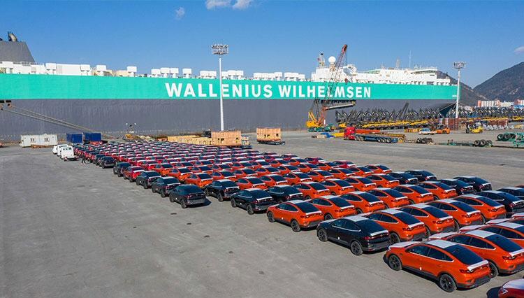 소형 SUV XM3 유럽 수출물량 첫 선적 개시