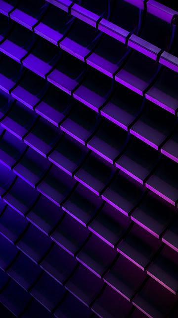 HD Wallpaper Abstract, Lines, Neon, Purple