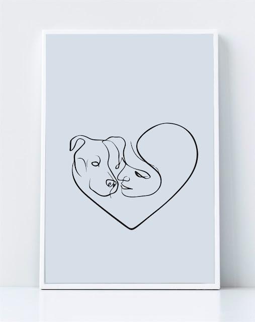 Hình nghệ thuật chú chó vẽ đường cong