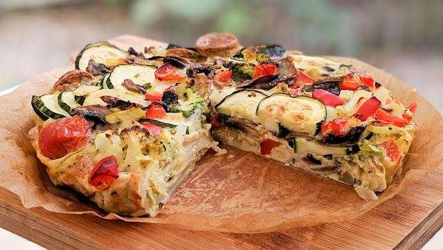omelette, recette, au four, rapide, légumes, saucisses, facile, idées repas, bon ap