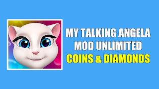 Download My Talking Angela MOD APK Unlimited Coins & Diamond