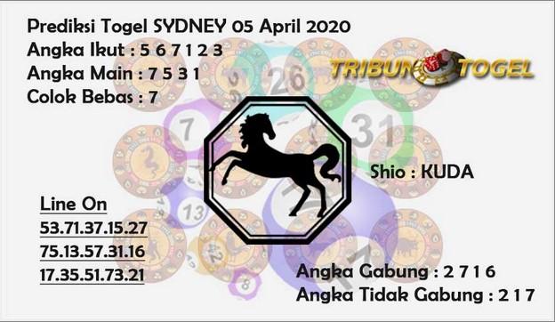 Prediksi Togel Sidney Minggu 05 April 2020 - Prediksi Tribun Togel