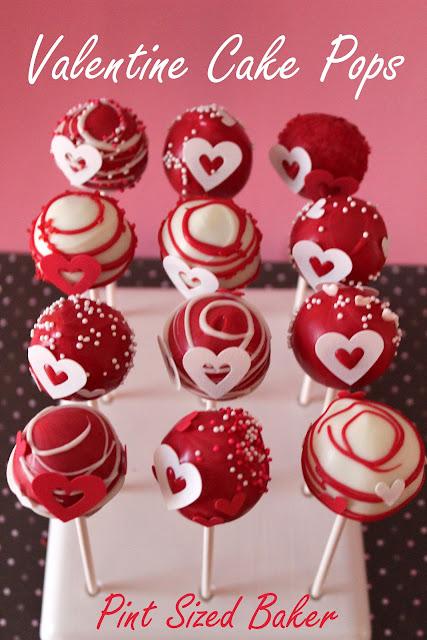 Valentine S Heart Cake Pops Pint Sized Baker