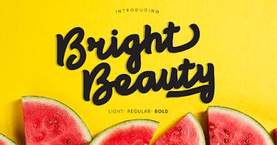تحميل الخط الرائع Bright beauty  المميز للشعارات والتصميمات التجارية والدعايه والاعلان