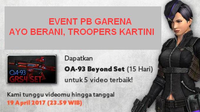 Event PB Garena Kartini Hadiah OA-93 Beyond Set 15 Hari