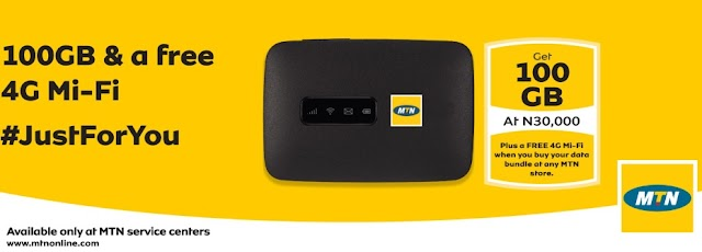 Buy MTN Mi-Fi Bundle and Get Free 4G Mi-Fi Device