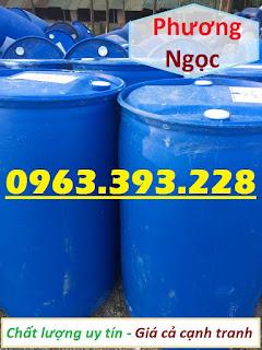 Thùng phuy nhựa nắp kín 220L đã qua sử dụng, thùng phuy nhựa 2 nắp nhỏ, thùng ph 34715091abbf49e110ae