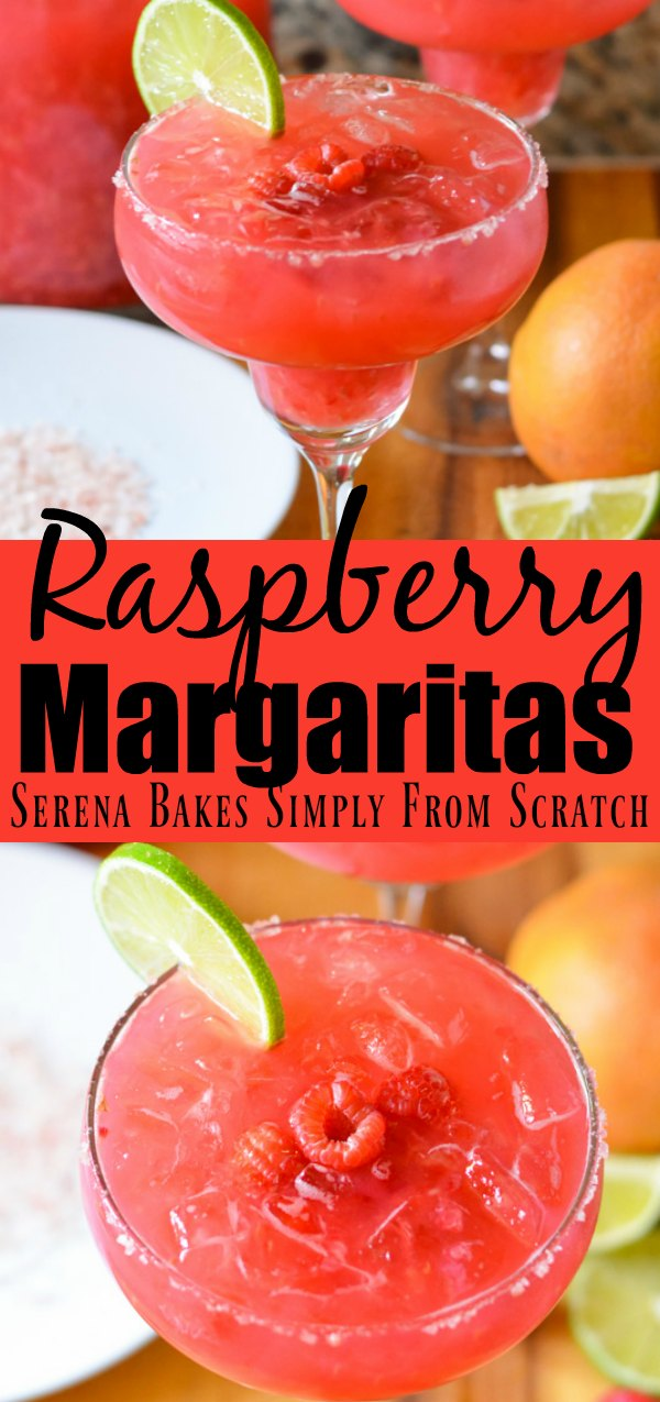 Raspberry Margaritas are a favorite pitcher cocktail perfect for parties from Serena Bakes Simply From Scratch. An all time favorite margarita!
