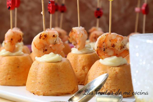 Pastelitos de surimi y atún.