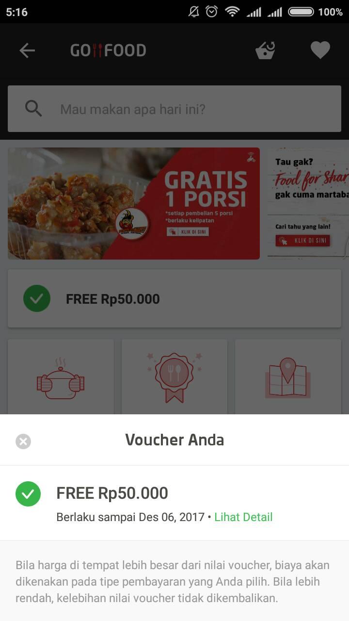 Cara Agar Voucher Go Food Tidak Otomatis Terpasang Pada Gojek Pagunpost