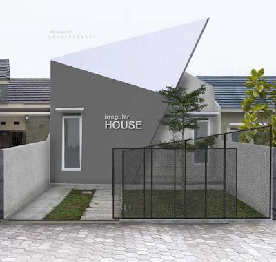 Desain Rumah Kecil dengan Fasad Unik
