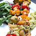 Tandoori vegetable and halloumi skewers...