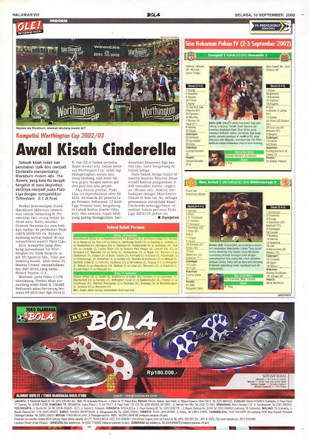 KOMPETISI WORTHINGTON CUP 2002/02 AWAL KISAH CINDERELLA